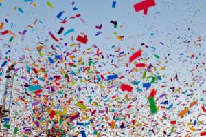 Various Colored Confetti
