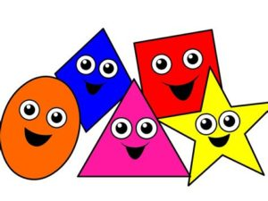 Primary Color Shapes with Eyes
