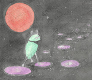 Robot on Stepping Stones in Space
