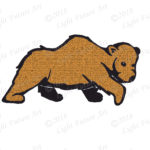 Walking Hand-drawn Brown Bear