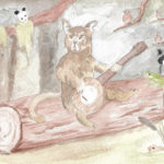 Wilderness Animals Listen to Banjo Cat Art