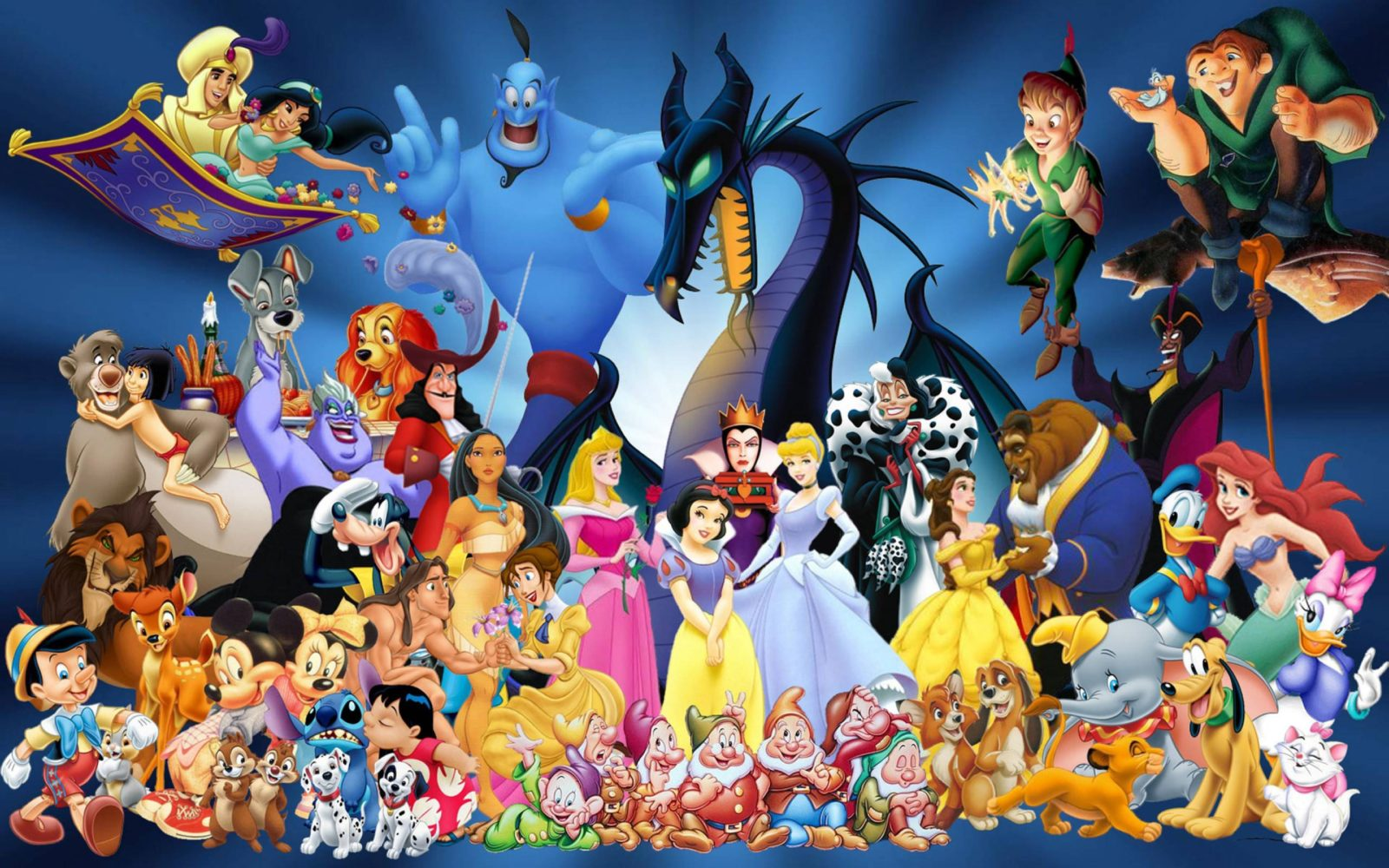 A Collection of Animated Disney Characters