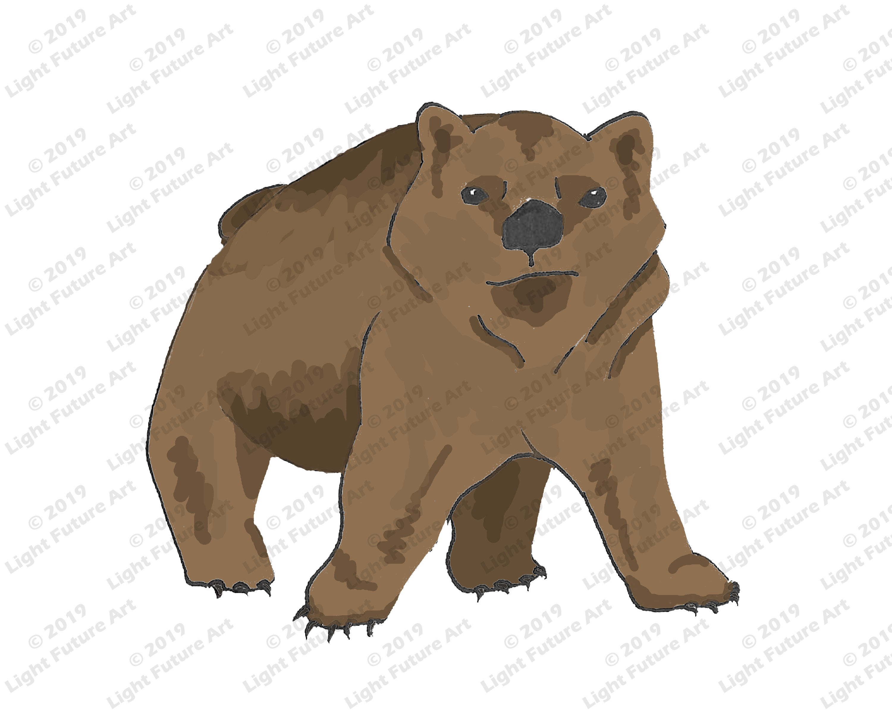 Cute Little Bear Cub Art