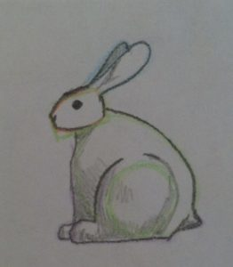 Final Sketch of Sitting Bunny