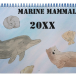 Watercolor Ocean Animal Calendar