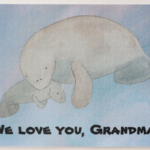 Manatee Watercolor Puzzle