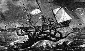 Kraken Taking a Ship